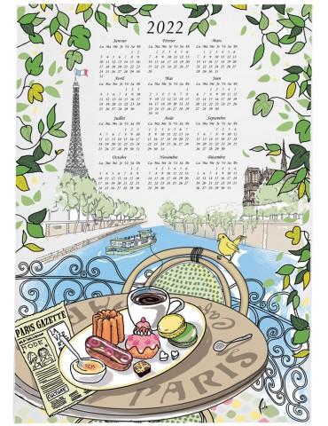 Torchon Café Gourmand Calendrier 2022 Ecru 48 x 72 6265010000Winkler