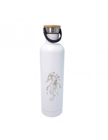 Bouteille isotherme neo retro inox 500ml - Hippocampe LTBTL49Label'tour