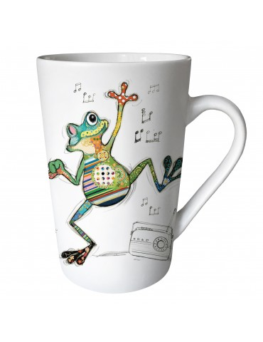 "Mug XL conique mat 435 ml ""KOOK"" grenouille MUGTG21U12Kiub"
