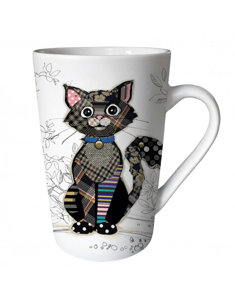 """Mug XL conique mat 435 ml """"KOOK"""" chat noir MUGTG21U09Kiub"""