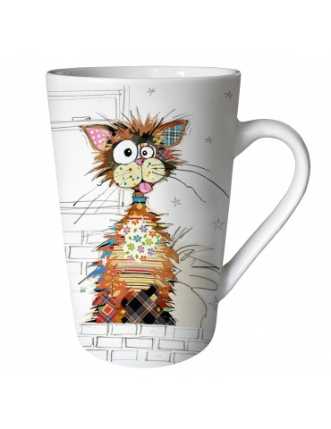 "Mug XL conique mat 435 ml ""KOOK"" chat ziggy MUGTG21U08Kiub"