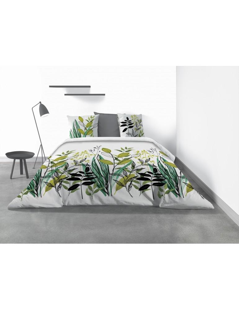 Parure de lit 2 personnes Gulty avec drap plat et taies d'oreiller Imprimé 270 x 290 6709000503Les Ateliers du Linge