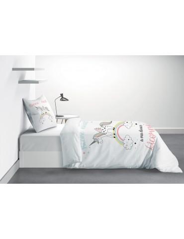Parure de lit 1 personne Majesty avec housse de couette et taie d'oreiller Imprimé 140 x 200 6718000502Les Ateliers du Linge