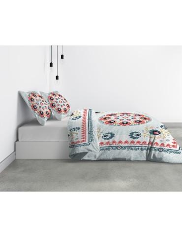 Parure de lit 2 personnes Camélia avec housse de couette et taies d'oreiller Imprimé 260 x 240 6743000503Les Ateliers du Linge
