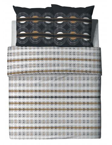 Parure de lit 2 personnes Maho avec housse de couette et taies d'oreiller Imprimé 200 x 200 6802000503Les Ateliers du Linge