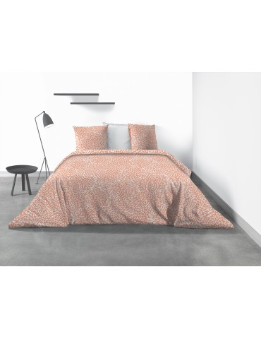 Parure de lit 2 personnes Lantana avec drap plat et taies d'oreiller Imprimé 270 x 290 6691000503Les Ateliers du Linge