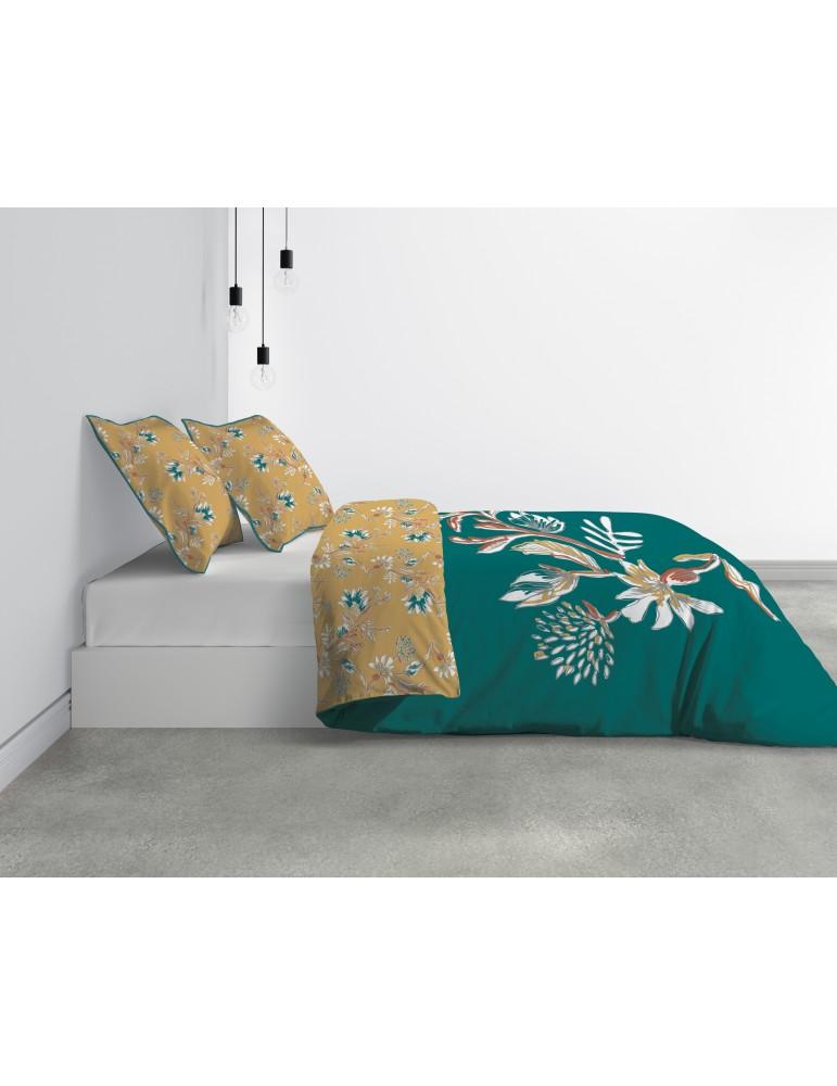 Parure de lit 2 personnes Motueka avec housse de couette et taies d'oreiller Imprimé 240 x 220 6468000503Les Ateliers du Linge