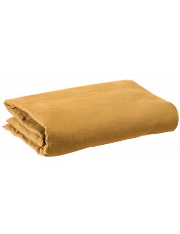 Housse de couette stonewashed Zeff Ocre 240 x 220 7662040000Vivaraise