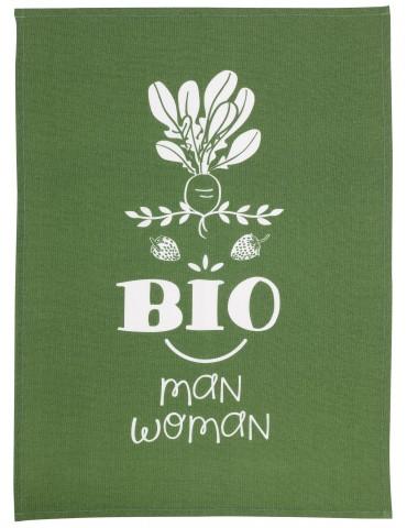 Torchon Message Bioman et Woman Vert 70 x 50 7194020000Winkler