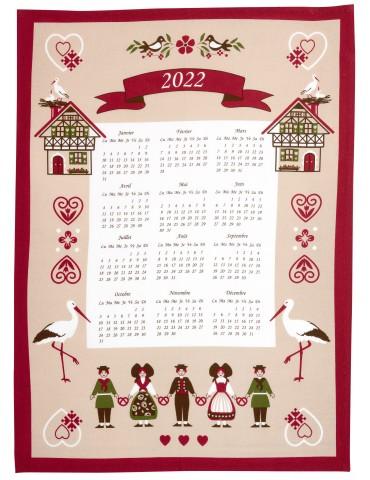 Torchon Calendrier 2022 Hisla Beige 50 x 70 6383080000Winkler