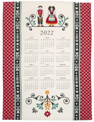 Torchon Calendrier 2022 Elsa Beige 50 x 70 7105080000Winkler
