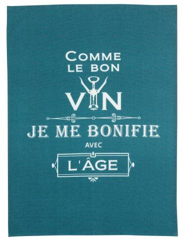 Torchon Message Comme le bon vin Paon 70 x 50 7125025000Winkler