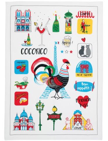 Torchon France Emoticônes Ecru 70 x 50 7126010000Winkler