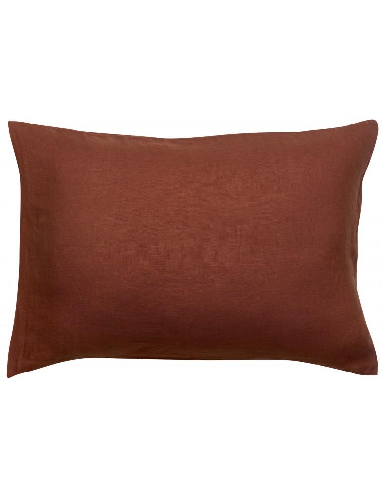 Taie d'oreiller stonewashed Zeff Caramel 50 x 75 1308858000Vivaraise