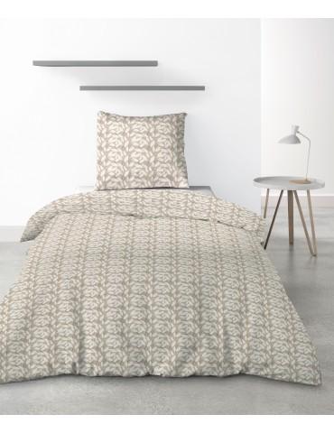 Parure de lit 1 personne Carmel avec housse de couette et taie d'oreiller Imprimé 140 x 200 6888000502Les Ateliers du Linge