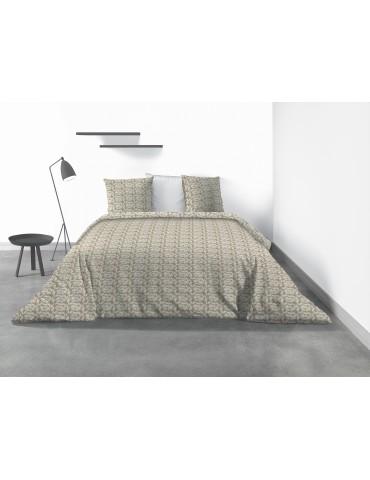 Parure de lit 2 personnes Carmel avec housse de couette et taies d'oreiller Imprimé 200 x 200 6890000503Les Ateliers du Linge