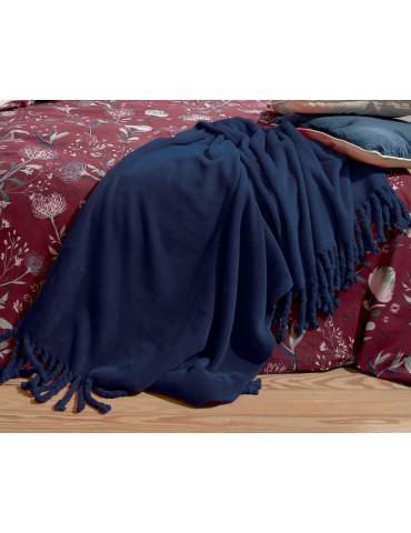 Plaid Braidy Bleu 127 x 152 5879065000Les Ateliers du Linge