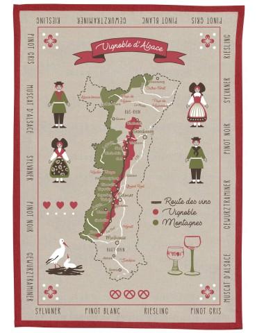 Torchon Vignoble d'Alsace Ficelle 50 x 70 8326080000Winkler