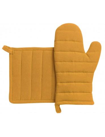 Lot gant de cuisine/manique recyclé Jona Tournesol 15 x 30 3706043102Winkler