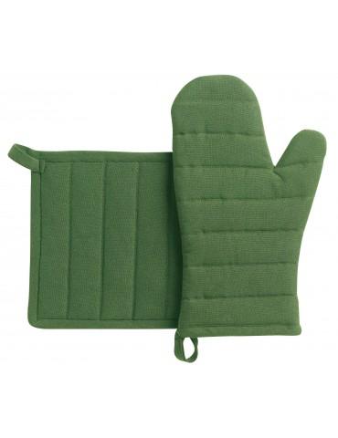 Lot gant de cuisine/manique recyclé Jona Vert 15 x 30 3706020102Winkler