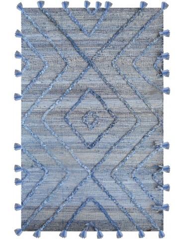 Tapis Worgan denim Bleu/ivoire 160 x 230 1030060021The Rug Republic