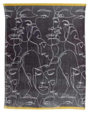Plaid Nymphea Imprimé 130 x 160 8561000000Les Ateliers du Linge