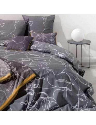 Parure de lit 2 personnes Nymphea avec housse de couette et taies d'oreiller Imprimé 200 x 200 4104000000Les Ateliers du Linge