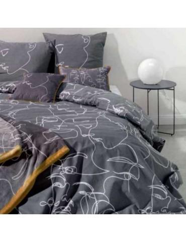 Parure de lit 2 personnes Nymphea avec housse de couette et taies d'oreiller Imprimé 240 x 220 8601000000Les Ateliers du Linge