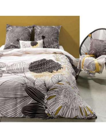 Parure de lit 2 personnes Tilly Gold avec housse de couette et taies d'oreiller Imprimé 240 x 220 3797000000Les Ateliers du L...