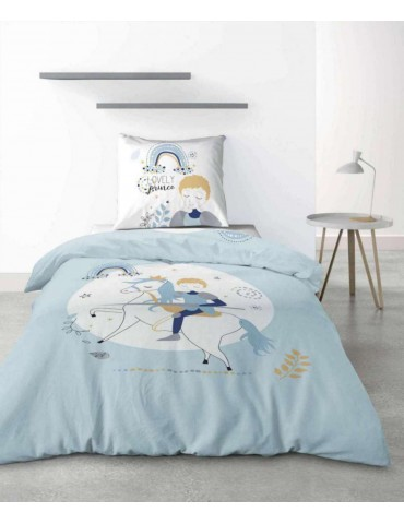 Parure de lit 1 personne Lovely Prince avec housse de couette et taie d'oreiller imprimé 140 x 200 2738000000Les Ateliers du ...