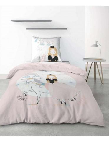 Parure de lit 1 personne Lovely Princess avec housse de couette et taie d'oreiller imprimé 140 x 200 2739000000Les Ateliers d...