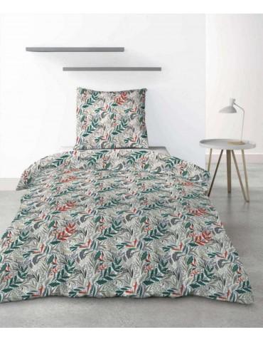 Parure de lit 1 personne Luziola avec housse de couette et taie d'oreiller imprimé 140 x 200 3284000502Les Ateliers du Linge