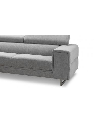 street ellen shale canape d 39 angle avec appuis tete en tissu angle. Black Bedroom Furniture Sets. Home Design Ideas