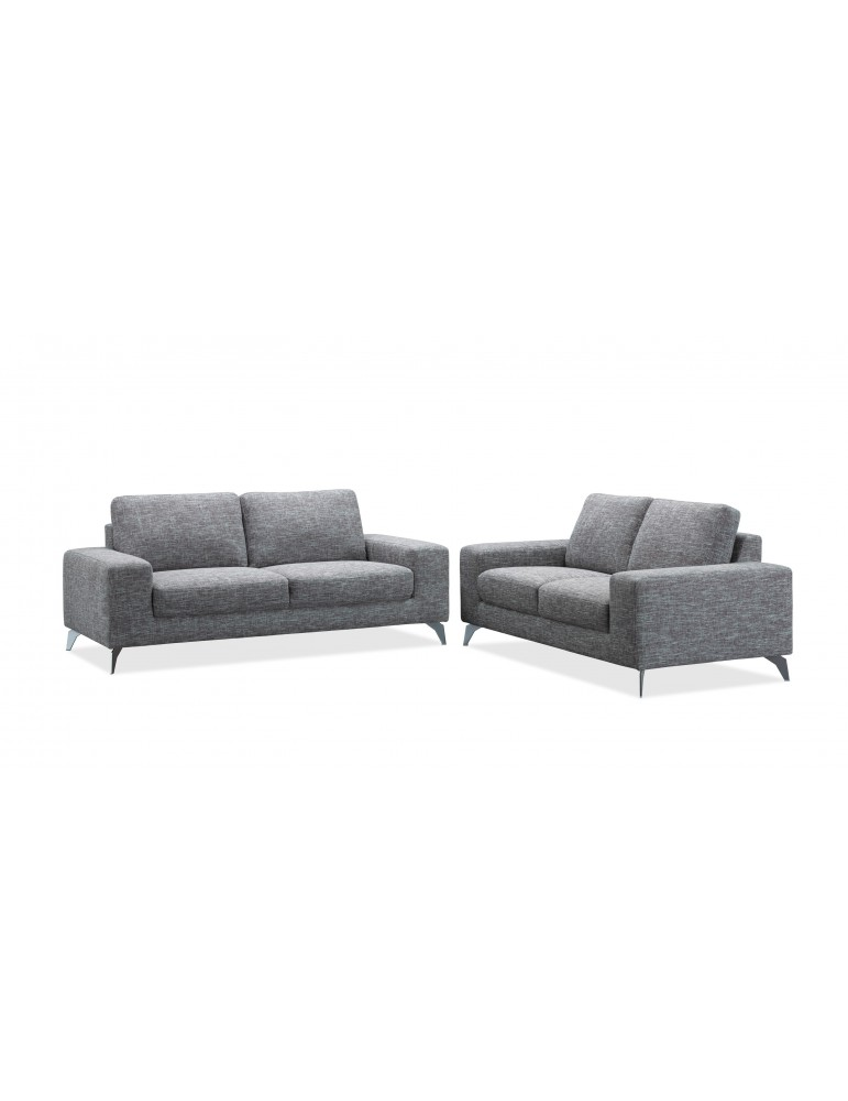 Jazz II Narbonne Grey - Canape 3 places en tissu fixe C114-NARBONNEGREY
