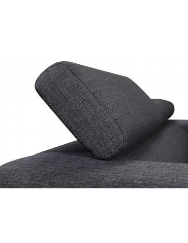 STREET 3 Chablis Grey - Canape fixe en tissu C117-CHABLISGREY