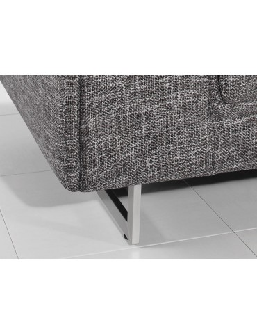 STREET 3 NARBONNE GREY - Canape fixe en tissu C117-NARBONNEGREY