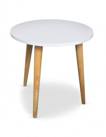 table basse ronde style scandinave typik blanc ls15163blanc. Black Bedroom Furniture Sets. Home Design Ideas