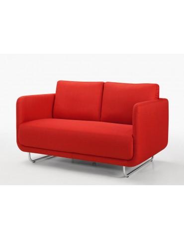 RUN 2 Rouge - Canape 2 Places en tissu Season C119-RED