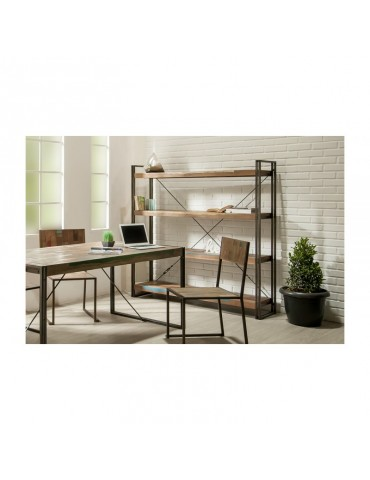 bibliotheque etagere loft 160cm 4 etageres teck recycle indus l. Black Bedroom Furniture Sets. Home Design Ideas