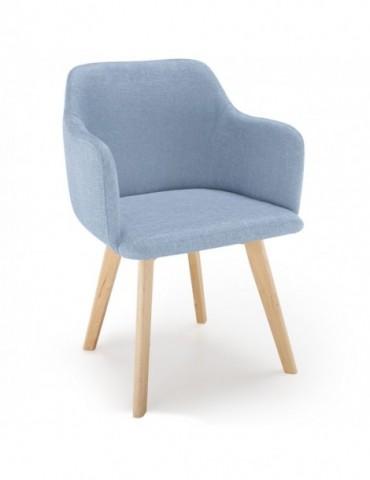 Chaise style scandinave Candy Tissu Bleu lsr1510610bleu