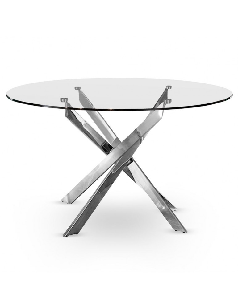 Table Croisade Chrome at10013-Chrome