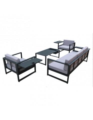 Salon de jardin en aluminium Sun ALU-D004