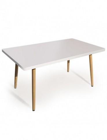 Table rectangulaire scandinave Nora Blanc p805sqblanc