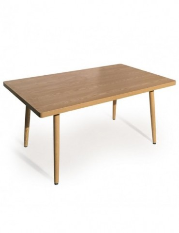 Table rectangulaire scandinave Nora Frêne p805sqash
