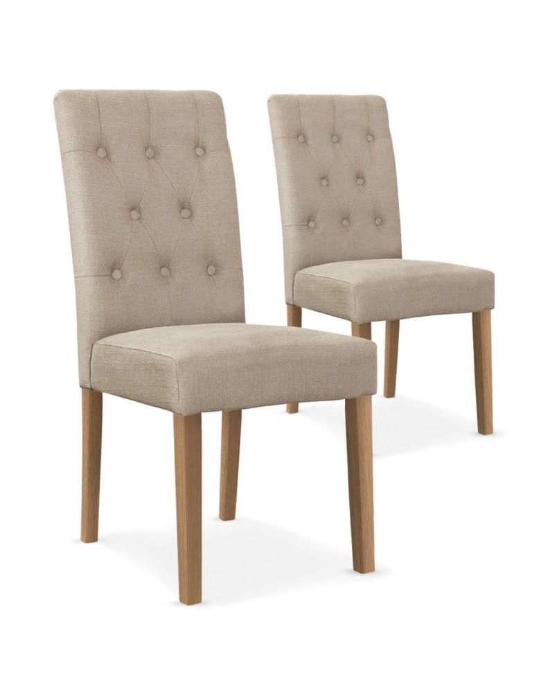 Lot de 2 chaises Cecil Tissu Beige wh11282beige