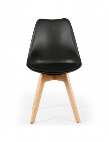 Lot de 2 chaises style scandinave Bovary Noir ty01black