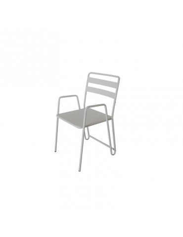 B.M.I. Blanc - Lot de 2 Chaises cosy et moderne en metal ACD-BMI-WHITE