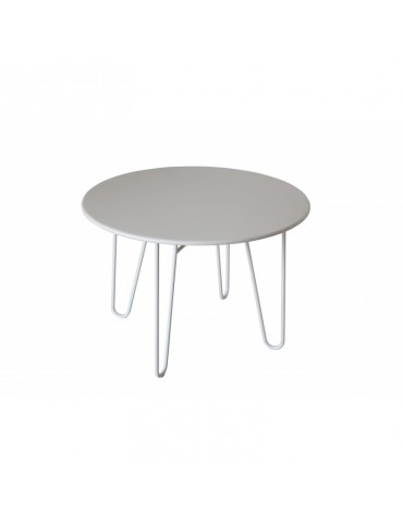 1 P.M - Table ronde en metal ACD-1PM-WHITE