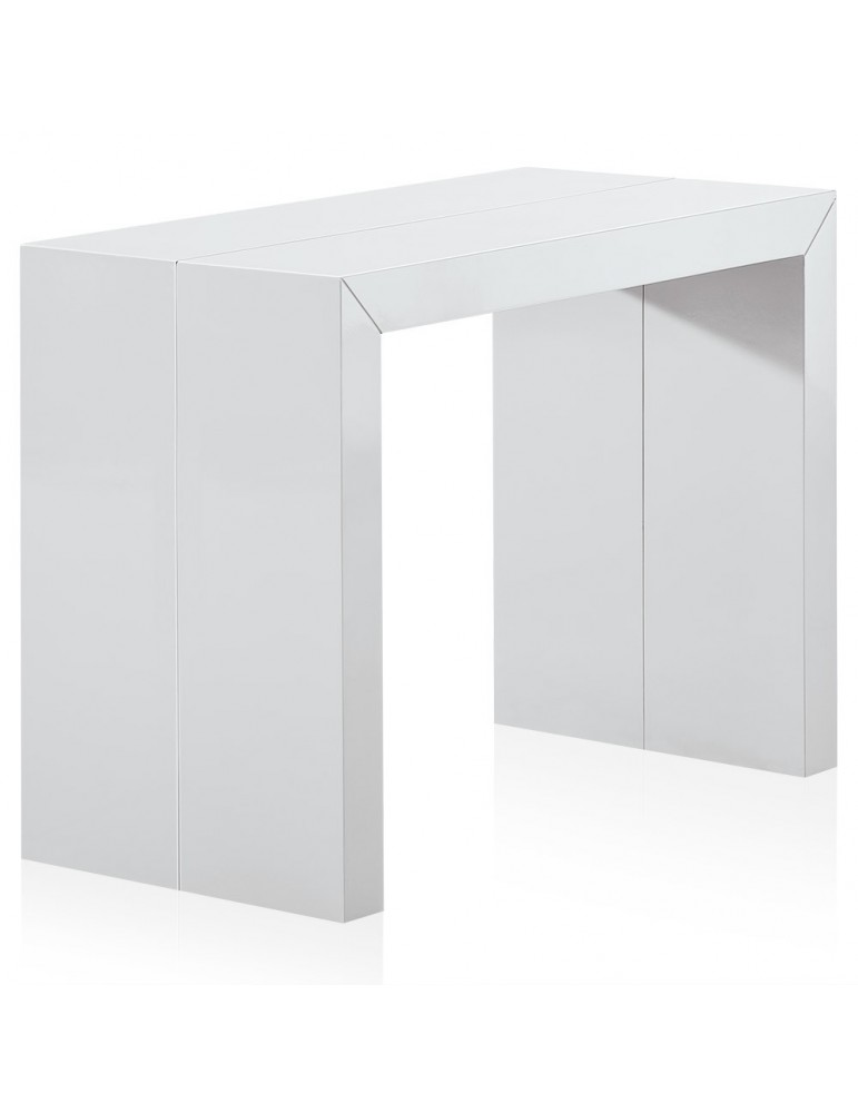 Table Console Nassau XL LAQUÉE Blanc at-8027L-Blanc