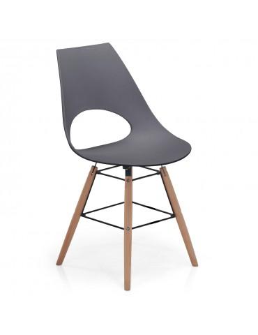 Lot de 4 chaises scandinaves Dani Gris foncé c835cdarkgrey